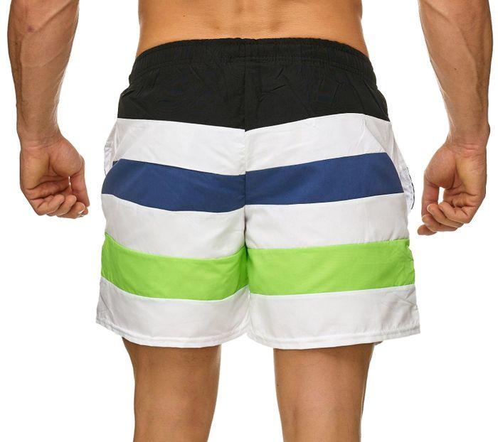 Topway Herren Badehose Kurze Bermuda Shorts Bunte Schwimmhose H2306 – Bild 4