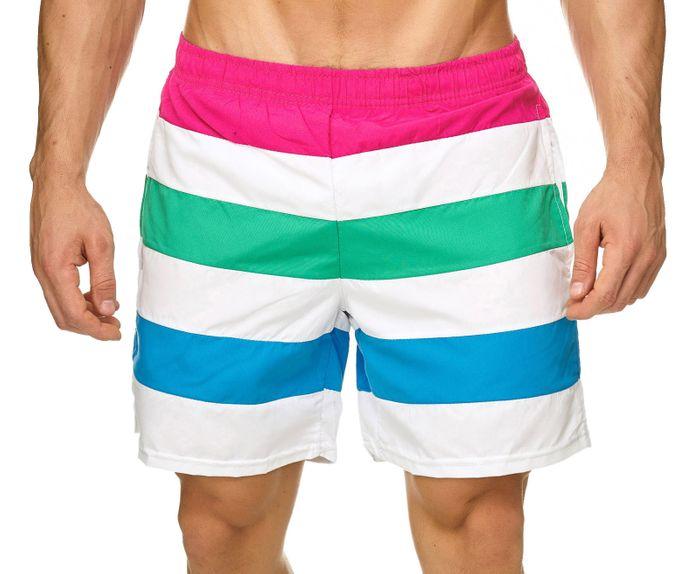 Topway Herren Badehose Kurze Bermuda Shorts Bunte Schwimmhose H2306 – Bild 5
