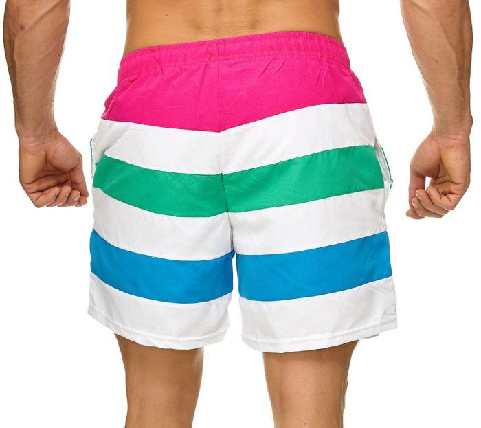 Topway Herren Badehose Kurze Bermuda Shorts Bunte Schwimmhose H2306 – Bild 7