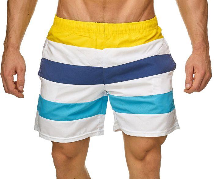 Topway Herren Badehose Kurze Bermuda Shorts Bunte Schwimmhose H2306 – Bild 8