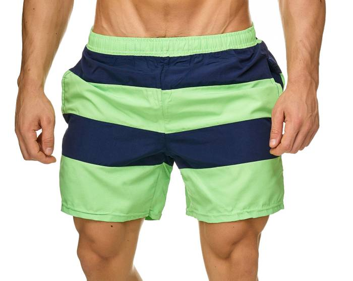 Topway Herren Badehose Kurze Bermuda Shorts Bunte Schwimmhose H2308 – Bild 2