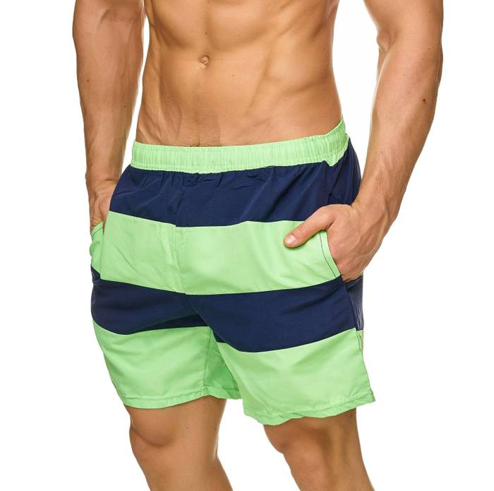 Topway Herren Badehose Kurze Bermuda Shorts Bunte Schwimmhose H2308 – Bild 3