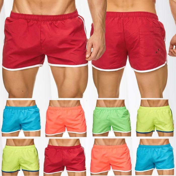 Topway Herren Badehose Kurze Bermuda Shorts Bunte Schwimmhose H2309 – Bild 1