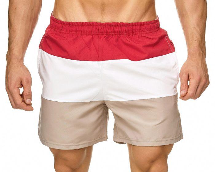 Topway Herren Badehose Kurze Bermuda Shorts Bunte Schwimmhose H2312 – Bild 5