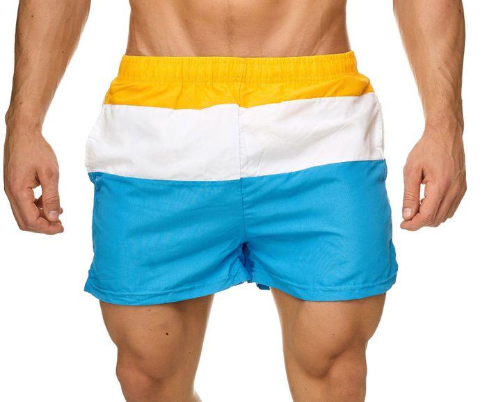 Topway Herren Badehose Kurze Bermuda Shorts Bunte Schwimmhose H2313 – Bild 2