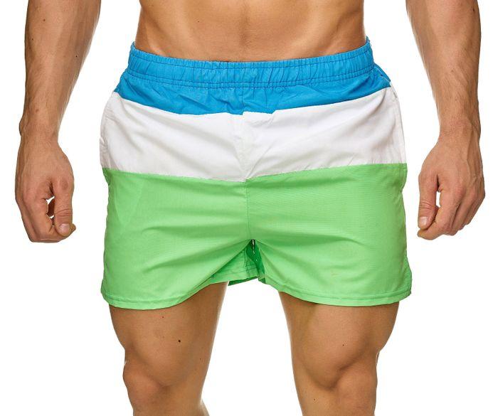 Topway Herren Badehose Kurze Bermuda Shorts Bunte Schwimmhose H2313 – Bild 8