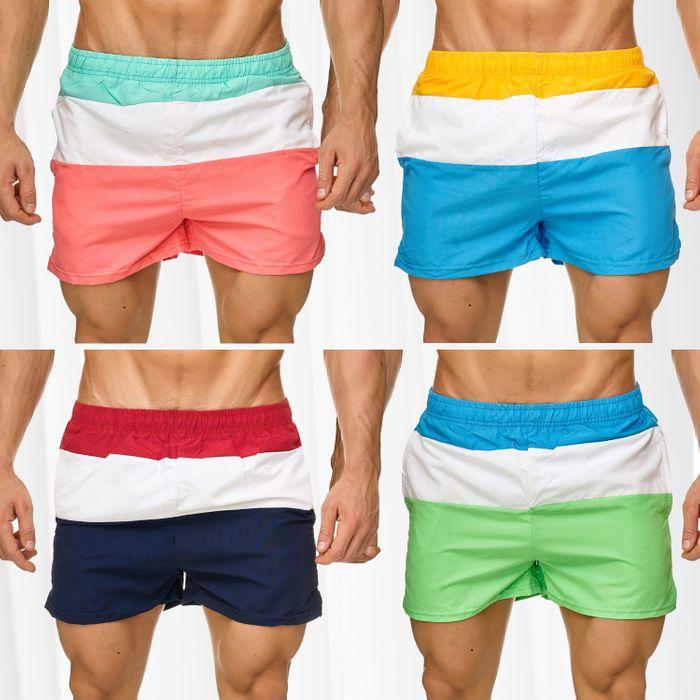 Topway Herren Badehose Kurze Bermuda Shorts Bunte Schwimmhose H2313 – Bild 1