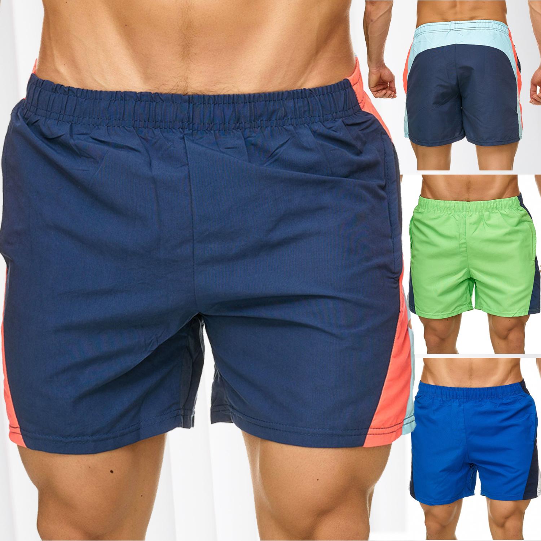 93f78ba7b25277 Herren Bade Shorts Kurz Badehose Bunt Gestreift Beachwear Schwimmhose  Strand - Nr 2317