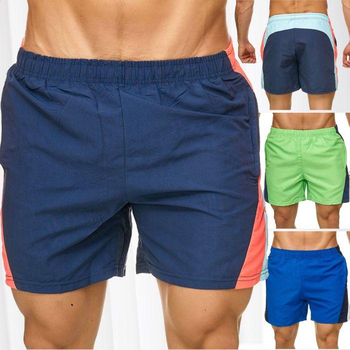 Topway Herren Badehose Kurze Bermuda Shorts Bunte Schwimmhose H2317 – Bild 1