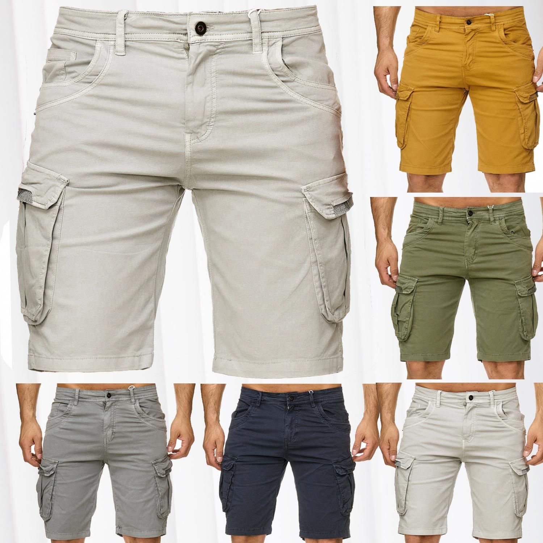 herren cargo shorts vintage stretch jeans bermuda look kurze capri hose sommer ebay. Black Bedroom Furniture Sets. Home Design Ideas