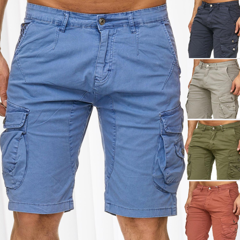 c62df1fb9356 Herren Cargo Shorts Bermuda Stretch Jeans Look Kurze Capri Hose Sommer  Vintage - Nr 2339