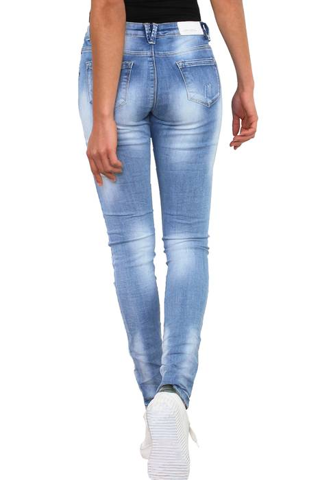 Simply Chic Damen Jeans Stretch Hose Destroyed Skinny Röhrenjeans D2342 – Bild 4