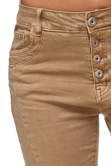 My Christy Damen Capri Jeans 3/4 Boyfriend Chino Hose Stretch Shorts D2344 – Bild 18