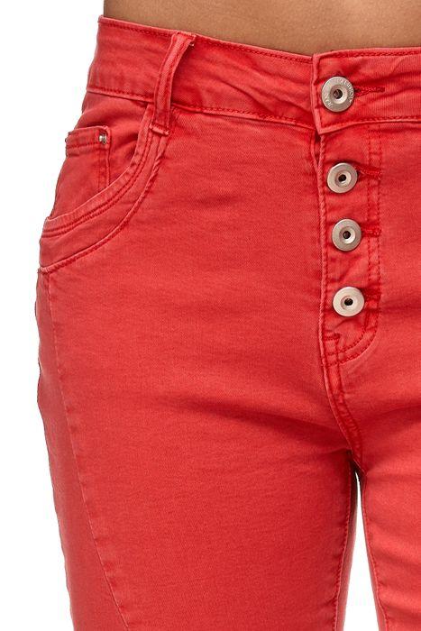 My Christy Damen Capri Jeans 3/4 Boyfriend Chino Hose Stretch Shorts D2344 – Bild 24