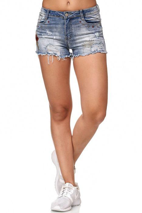Simply Chic Damen Jeans Shorts Kurze Hot Pants Sommer Hüfthose D2345 – Bild 2