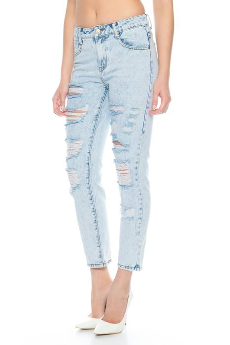 Nina Carter Damen Jeans Boyfriend Style Hose Destroyed Ripped D2351 – Bild 9