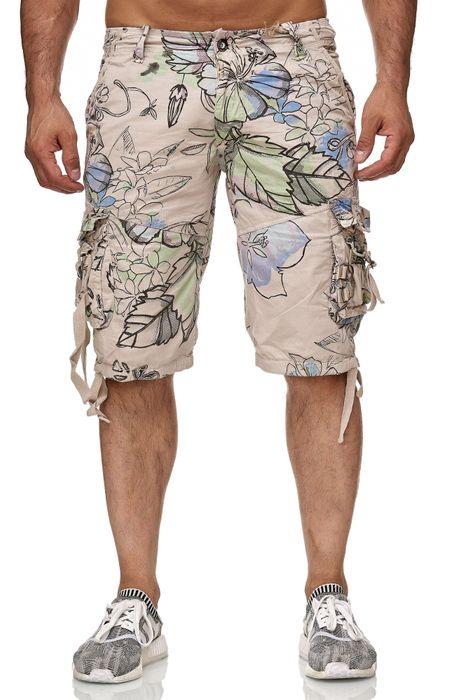 Frlendli Herren Floral Muster Kurze Bermuda Hose H2355 – Bild 2
