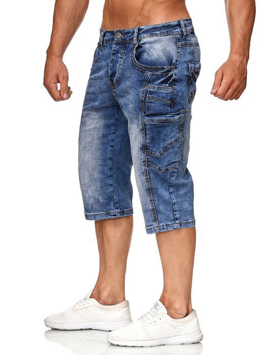 Leo Gutti Herren Jeans Shorts Kurze Capri Pants Bermuda Hose H2366 – Bild 3