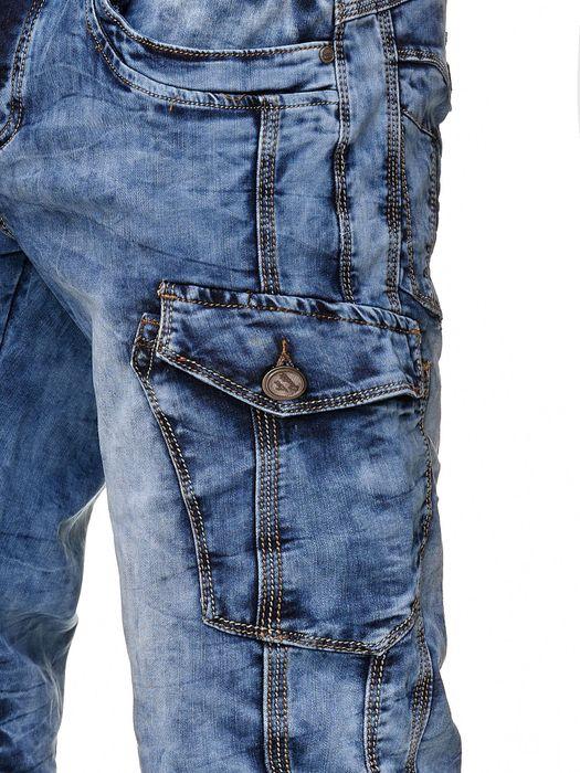 Leo Gutti Herren Jeans Shorts Kurze Capri Pants Cargo Bermuda Hose H2368 – Bild 5