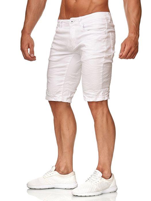 Leeyo Herren Bermuda Shorts Kurze Jeans Hose H2371 – Bild 3