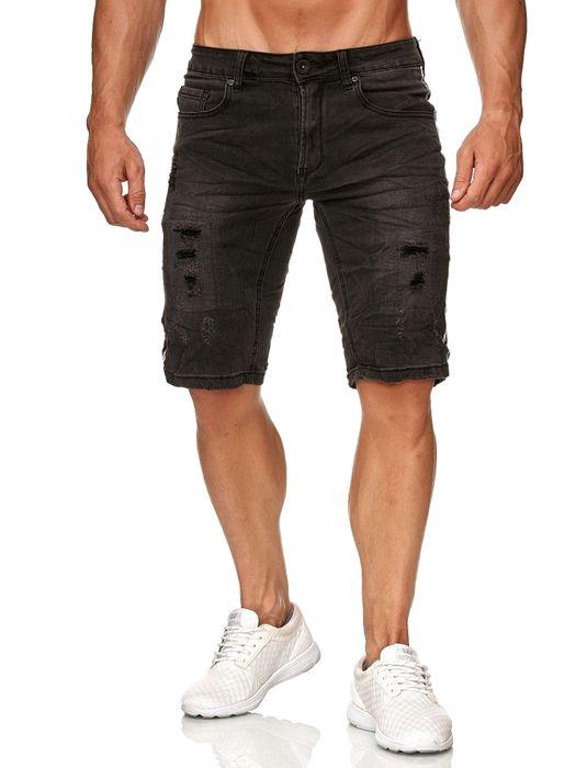 Leeyo Herren Bermuda Shorts Kurze Jeans Hose H2372 – Bild 2