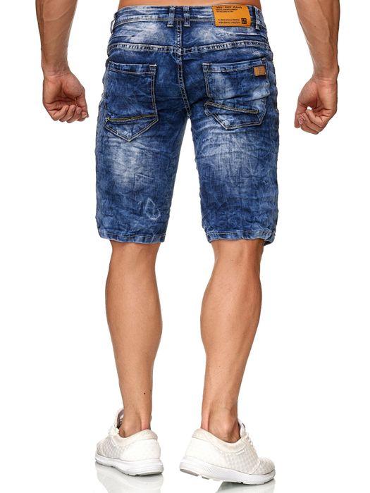Yes Boy Herren Bermuda Shorts Kurze Slim Jeans Hose H2374 – Bild 4