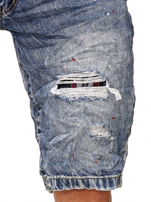 Leeyo Herren Bermuda Shorts Destroyed Used Kurze Jeans Hose H2377 – Bild 5