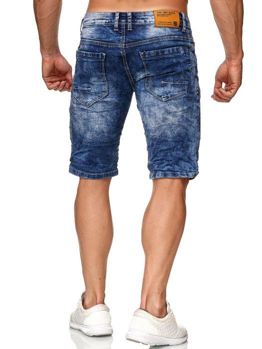 Yes Boy Herren Bermuda Shorts Kurze Bermuda Hose Ripped Used H2378 – Bild 4