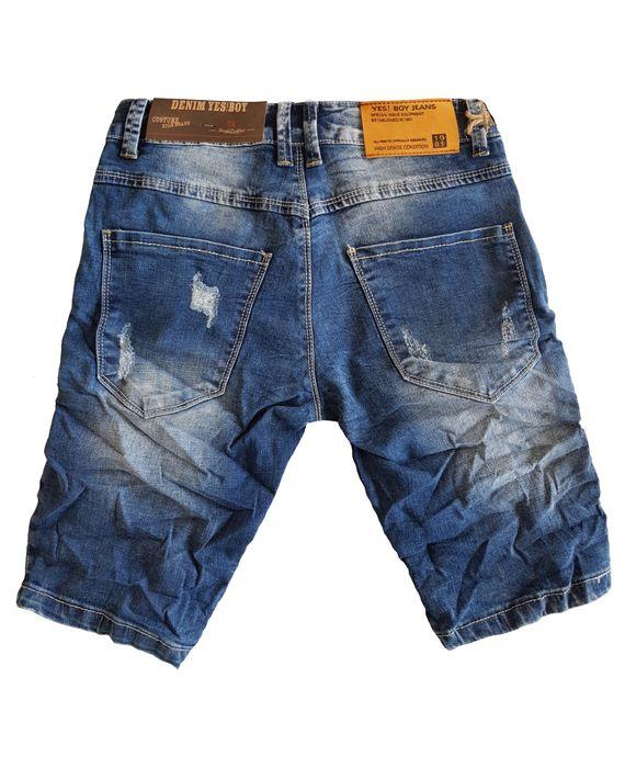 Yes Boy Herren Jeans Shorts Kurze Bermuda Hose Ripped Used H2379 – Bild 3
