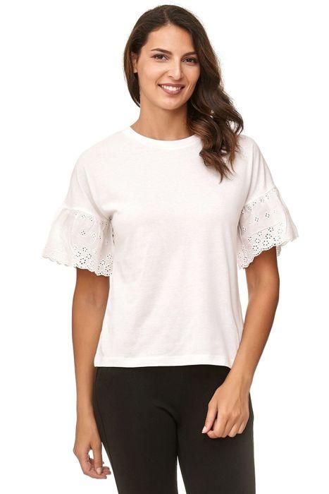 JDY Damen Short Sleeve Volants Ärmel Blusen Shirt D2381 – Bild 3