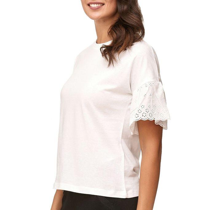 JDY Damen Short Sleeve Volants Ärmel Blusen Shirt D2381 – Bild 4
