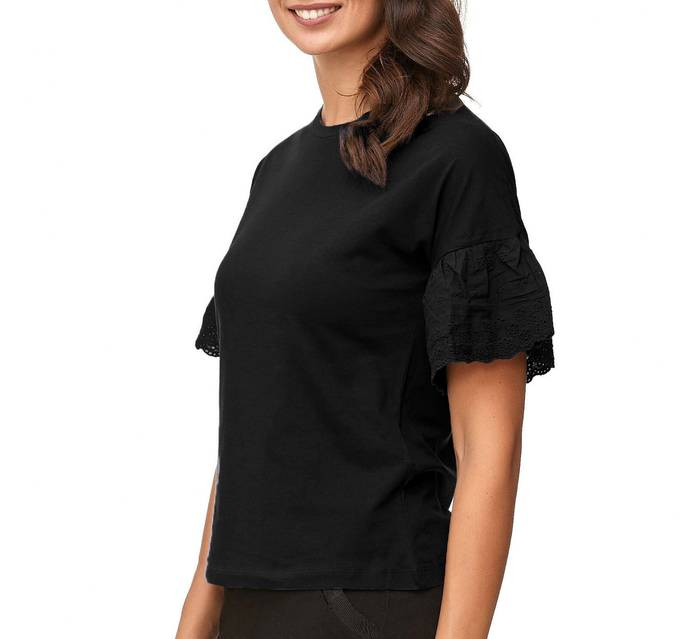JDY Damen Short Sleeve Volants Ärmel Blusen Shirt D2381 – Bild 12