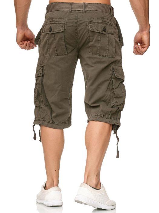Just Rebei Herren Cargo Shorts Kurze Capri Bermuda Trekking Hose H2383 – Bild 13