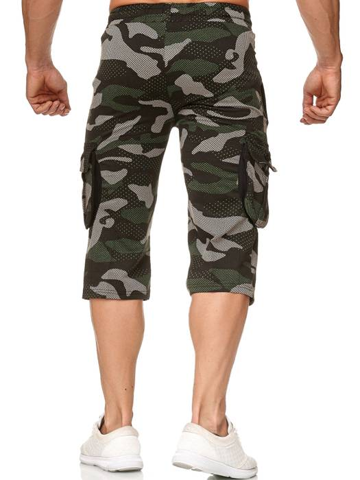 Herren Cargo Shorts Sweat Bermuda Hose Sport Pants H2392 – Bild 8