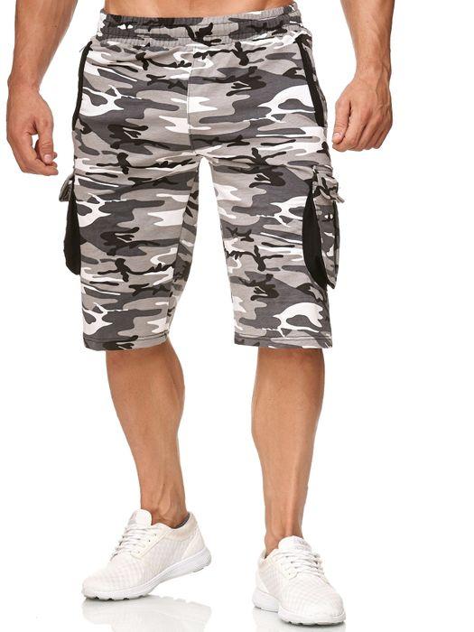 Herren Cargo Shorts Sweat Bermuda Hose Sport Pants H2392 – Bild 12