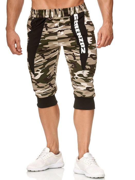 Herren Sweat Shorts Kurze Bermuda Pants Sport Jogging Hose H2393 – Bild 2