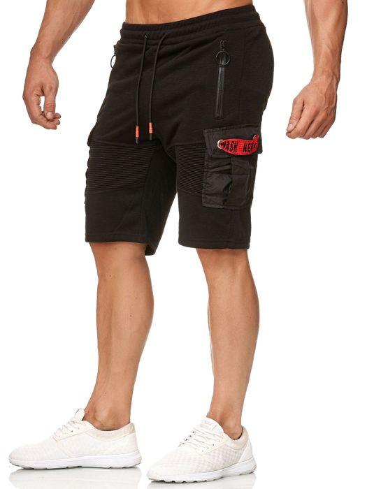 Max Men Herren Kurze Cargo Biker Bermuda Jogging Hose H2395 – Bild 7
