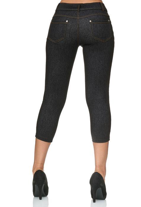 Damen Capri Hose Jeggings 3/4 Hüfthose Skinny Jeans D2426 – Bild 4