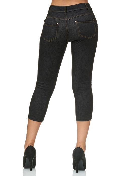 Damen Capri Hose Jeggings 3/4 Hüfthose Skinny Jeans D2427 – Bild 9