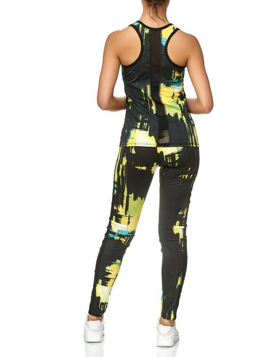 Damen Trainingsanzug Zweiteiler Sport Set Tank Top Leggings Kombi Fitness D2429 – Bild 5