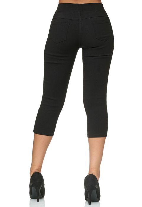 Damen Capri Track Pants Hose Seitenstreifen Treggings Röhre D2438 – Bild 13