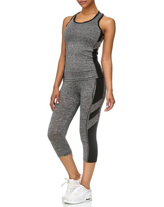 Damen Trainingsanzug Sport Set Tank Top Capri Leggings Fitness Zweiteiler D2441 – Bild 18
