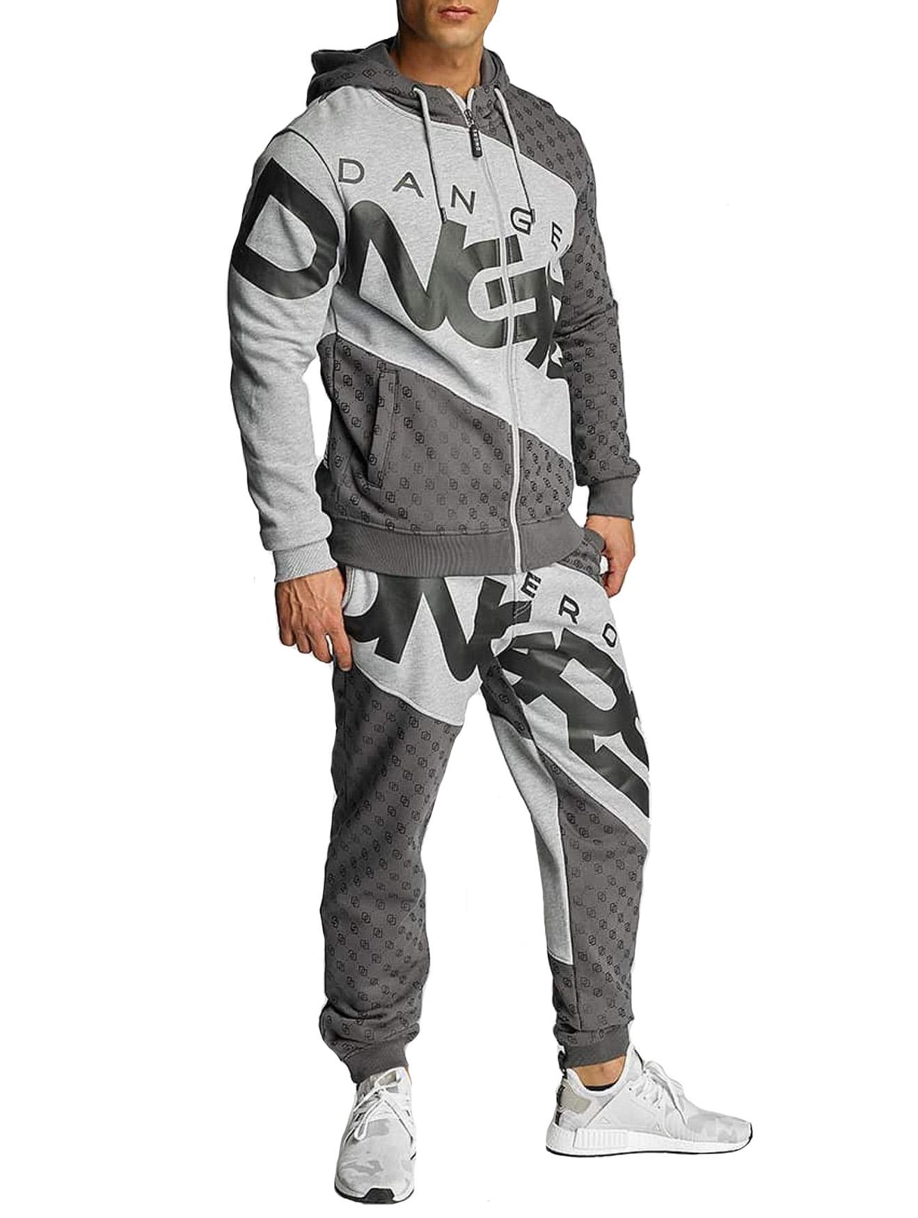 Herren Jogginganzug DNGRS Sweat Suit Sport Fitness Urban Jogger Anzug Marne