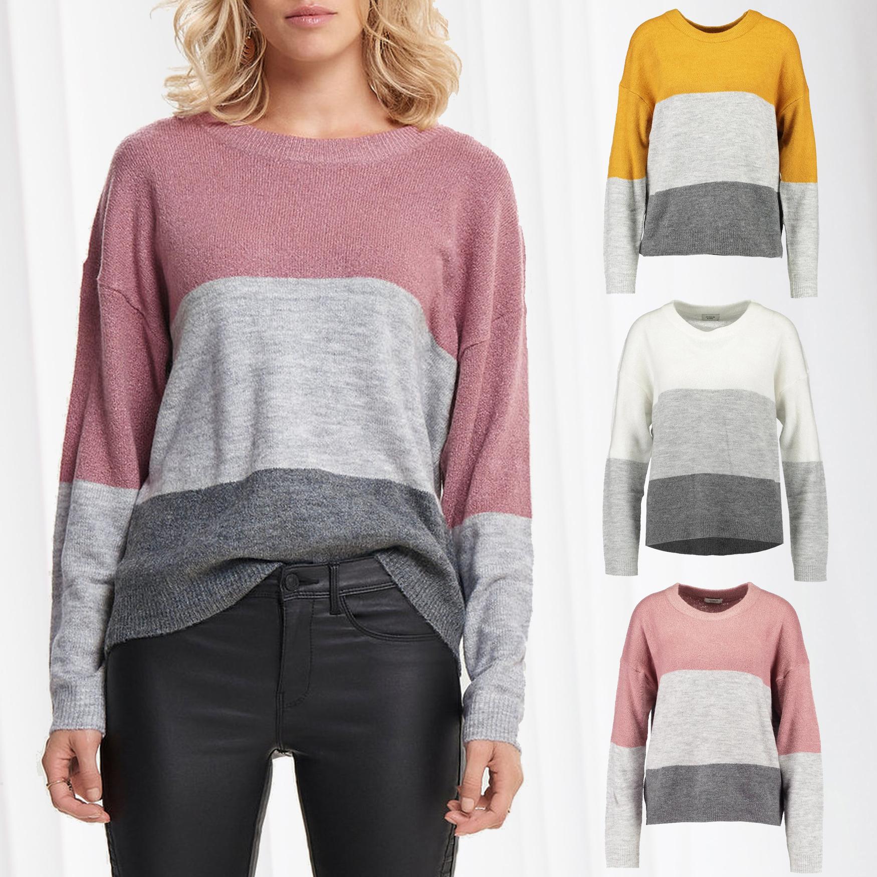 newest collection 623ab 6a5ca Details zu JDY Damen Pullover Sweat Shirt Sweater Pulli Gestreift  Jacqueline de Yong Only