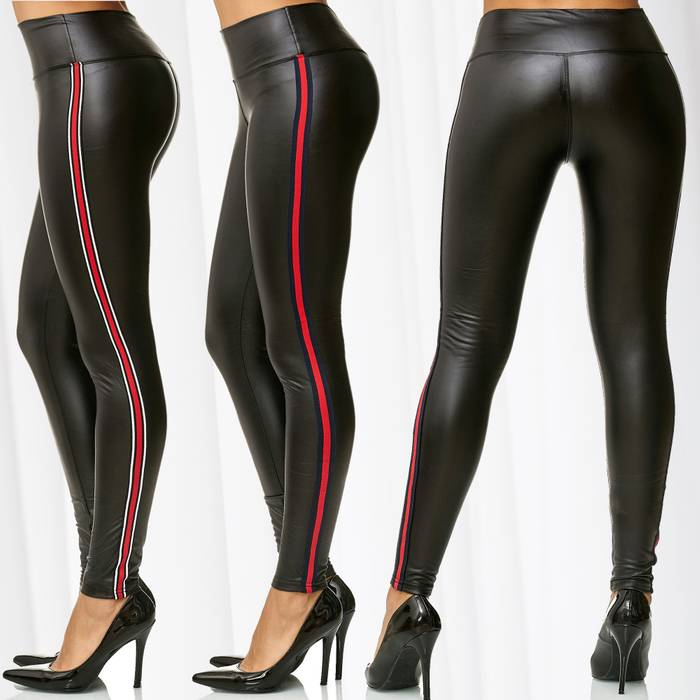 Damen Treggings Leder Optik MONIC