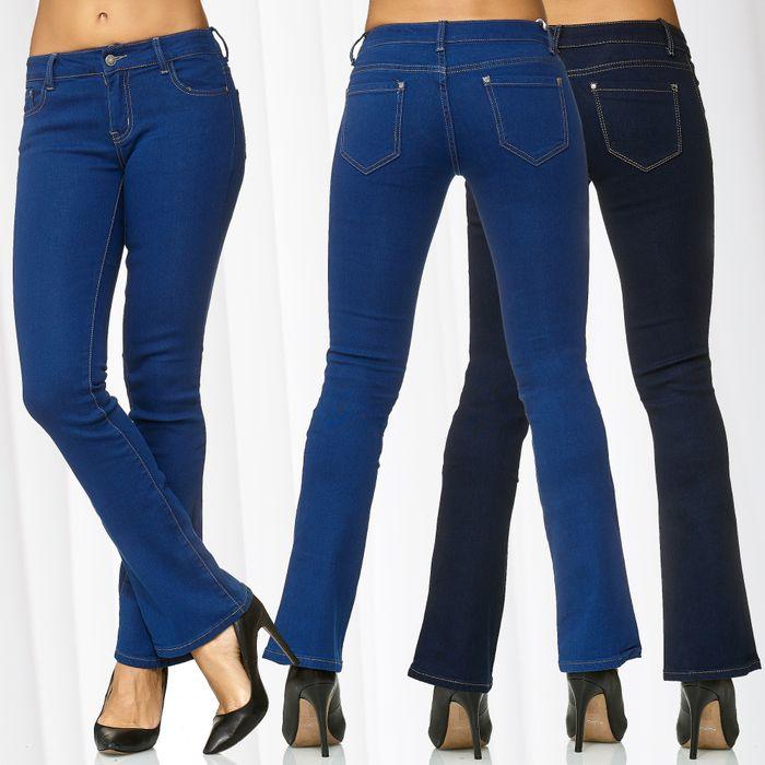 Damen Jeans Schlaghose JANIS