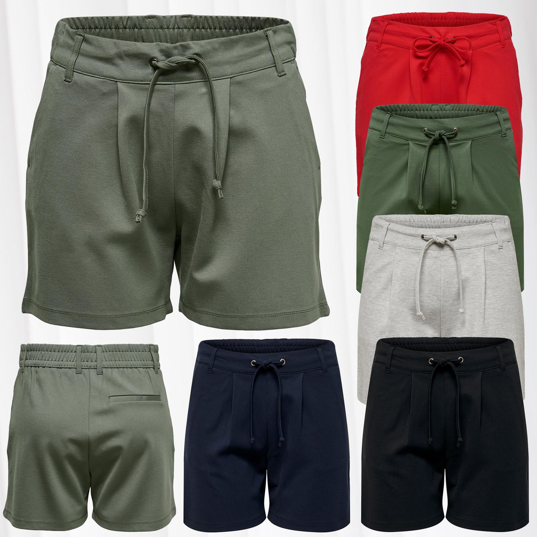 JDY Damen Jeans Shorts Sommer Stoffhose Chino Kurz  Pants Stretch Casual Push Up