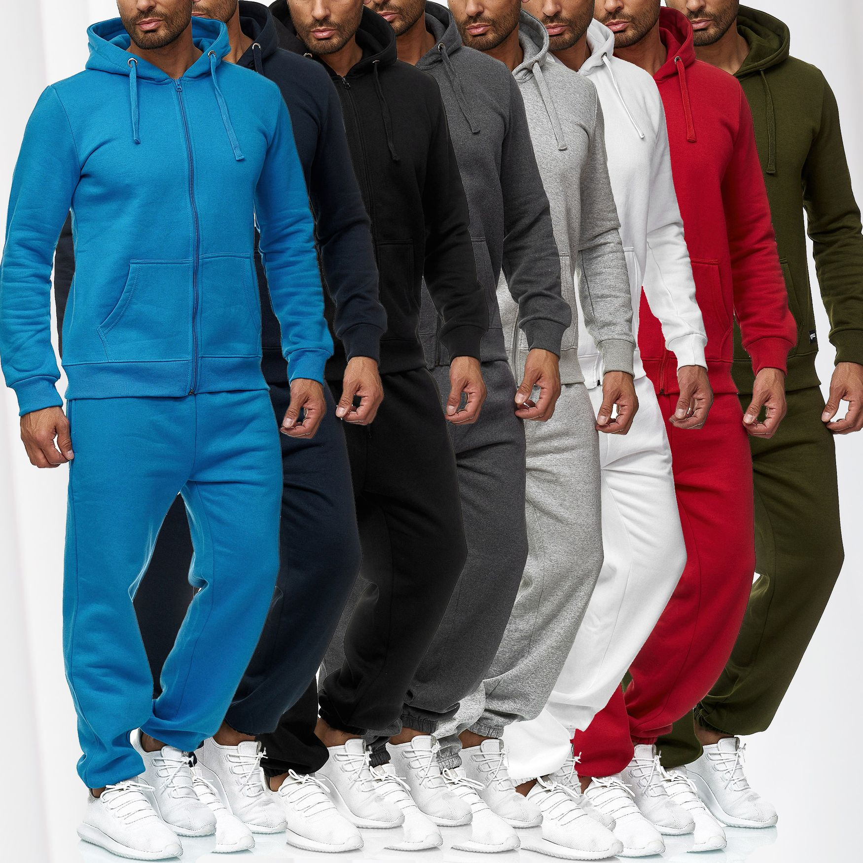 Men/'s tracksuit Basic sports sweat suit for men 2-piece gym Set Hoodie and pants