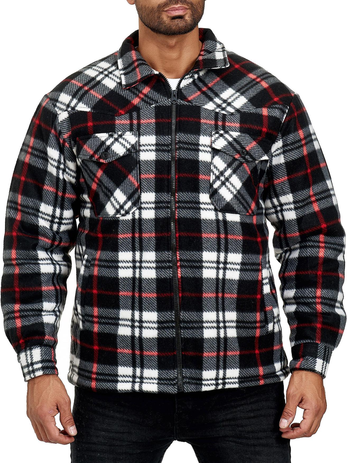 Details zu Herren Holzfäller Hemd Kariert Thermo Gefüttert Jacke Flanell Fleece Sweat Shirt