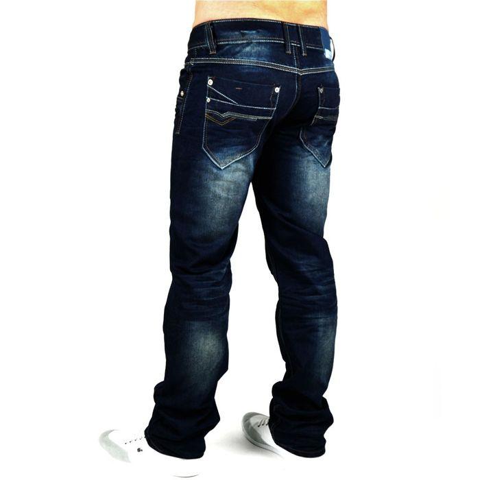 Herren Jeans Unleashed-Jeansnes ID602 Straight Fit (Gerades Bein) – Bild 3